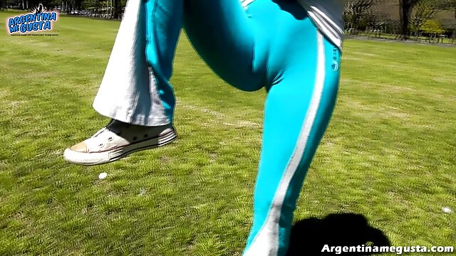 Pantalones abuelas alemanas calientes celestes ajustados